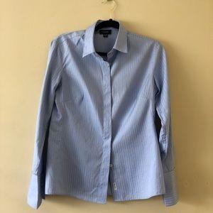 Faconnable Blue Button Down Dress Shirt